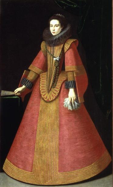 """Portrait of a Young Noblewoman'' by an unknown artist from the School of Madrid, circa 1630."